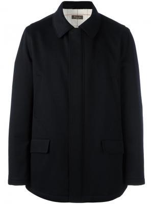 Куртка с карманами клапанами Loro Piana. Цвет: синий