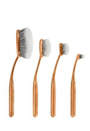 Набор кистей для макияжа Royal&Langnickel. Цвет: золотой