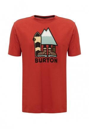 Футболка Burton. Цвет: оранжевый
