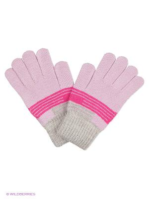Перчатки United Colors of Benetton. Цвет: розовый, малиновый, серый меланж