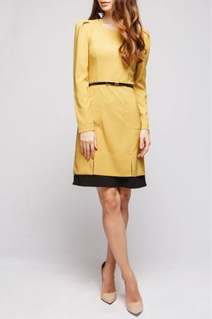 Платье 1001dress. Цвет: горчица
