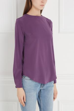 Шелковая блузка Chapurin. Цвет: сиреневый
