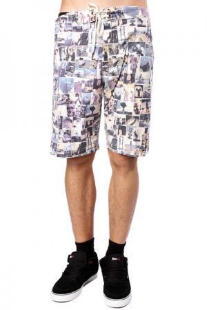 Пляжные мужские шорты  Dope Shrine Yearbook Insight. Цвет: белый,синий