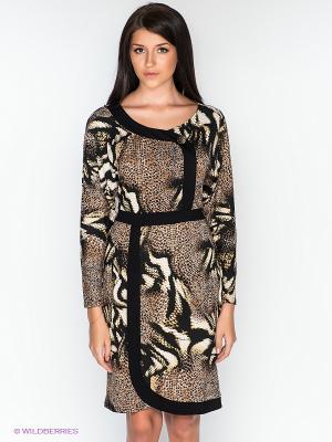 Платье Dea Fiori. Цвет: черный, коричневый, белый
