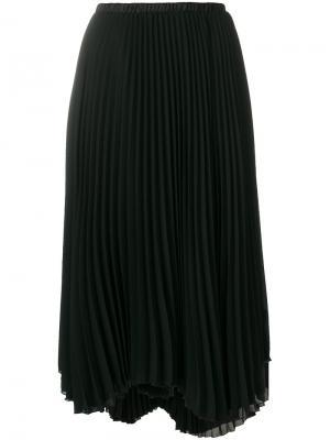 Плиссированная юбка Loyd/Ford. Цвет: чёрный