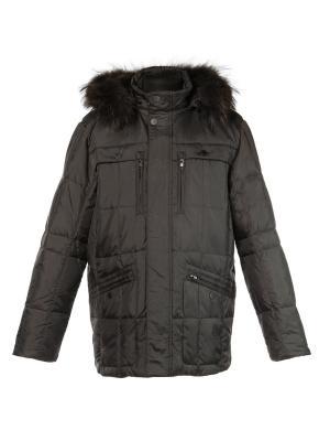 Куртка City Classic. Цвет: темно-коричневый