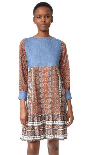 Платье Love Street Warm. Цвет: голубой