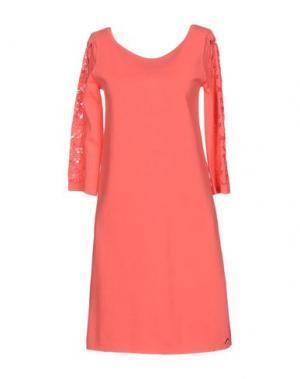 Короткое платье ANGELO MARANI. Цвет: коралловый