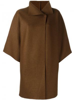 Пальто с расклешенными рукавами Harris Wharf London. Цвет: коричневый