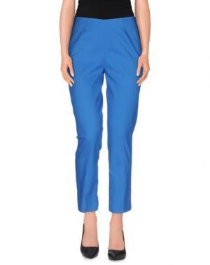Повседневные брюки TRUE ROYAL. Цвет: ярко-синий