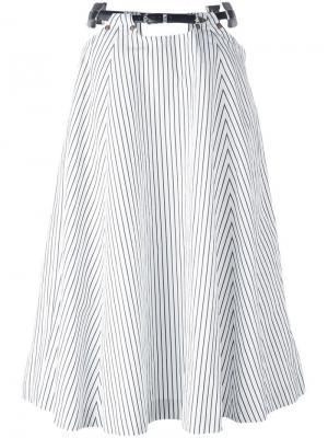 Полосатая юбка с поясом Toga. Цвет: синий