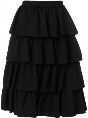 А-образная ярусная юбка Simone Rocha. Цвет: чёрный