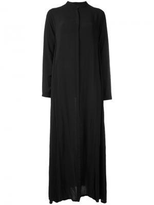 Длинное платье-рубашка Poème Bohémien. Цвет: чёрный