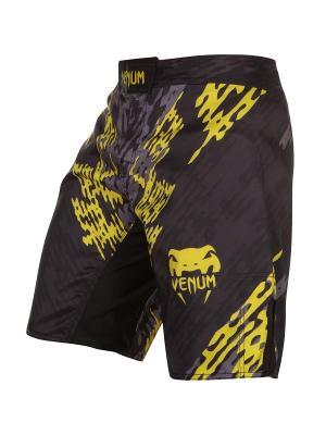 Шорты ММА Venum Neo Camo Fightshorts Black/Grey/Yellow. Цвет: черный,синий,желтый