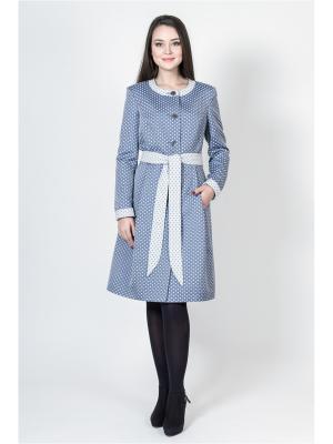Пальто Socrat. Цвет: серо-голубой