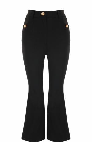 Укороченные расклешенные брюки Dolce & Gabbana. Цвет: черный