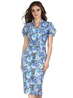 Платье OLIVEGREY. Цвет: голубой, серый