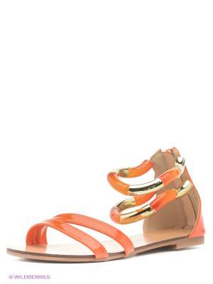 Босоножки INARIO. Цвет: оранжевый
