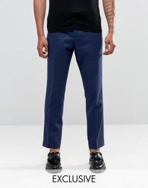 Noak Укороченные брюки слим в крапинку. Цвет: темно-синий