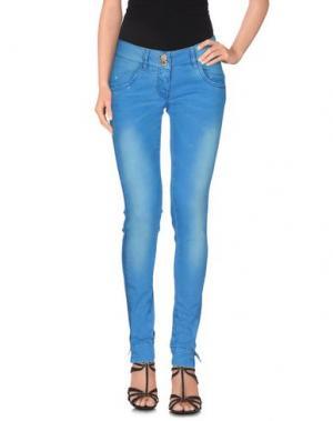 Джинсовые брюки PHARD. Цвет: лазурный