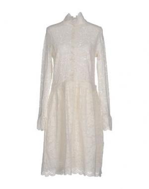 Платье до колена NOLITA. Цвет: слоновая кость
