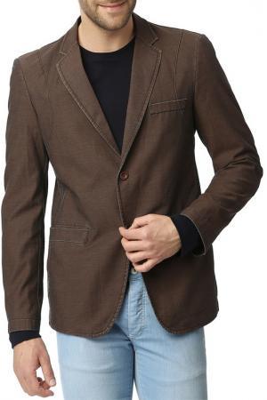 Пиджак Dewberry. Цвет: коричневый