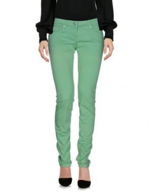 Повседневные брюки DANIELE ALESSANDRINI. Цвет: светло-зеленый