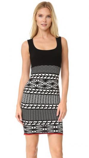 Трикотажное платье без рукавов DSQUARED2. Цвет: мульти