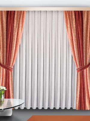 Комплект штор ZLATA KORUNKA. Цвет: розовый