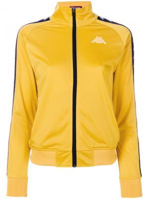 Спортивная куртка на молнии Kappa. Цвет: жёлтый и оранжевый