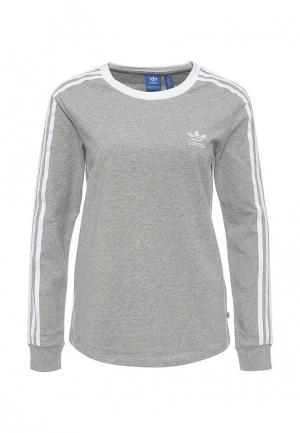 Лонгслив adidas Originals. Цвет: серый