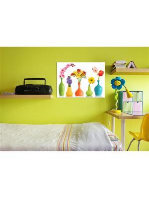 Картина Верона Сирень. Цвет: морская волна, серебристый