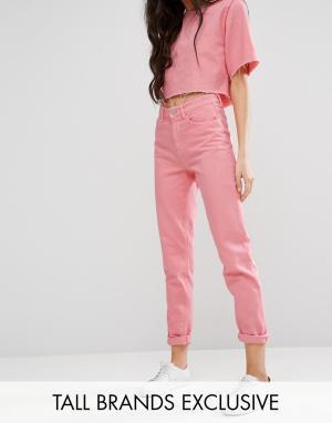 Waven Tall Свободные джинсы в винтажном стиле. Цвет: розовый