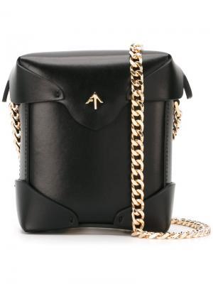 Мини сумка через плечо Pristine Manu Atelier. Цвет: чёрный