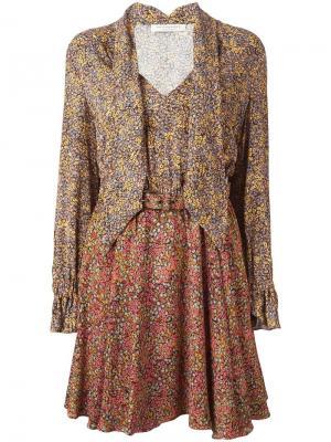 Платье с цветочным принтом Philosophy Di Lorenzo Serafini. Цвет: многоцветный