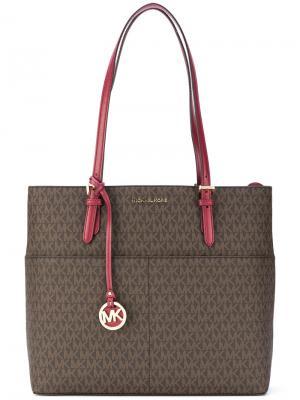 Большая сумка-тоут Bedford Michael Kors. Цвет: коричневый