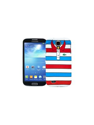 Чехол для Samsung Galaxy S4 Red with blue stripes, серия Sports shirt Kawaii Factory. Цвет: красный, синий