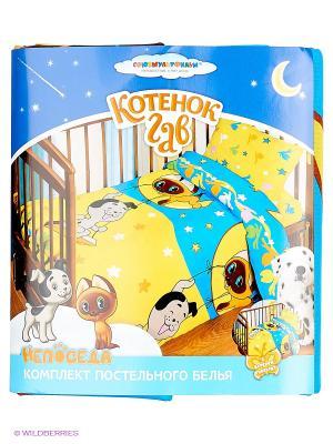 Комплект постельного белья Союзмультфильм. Цвет: бирюзовый, желтый