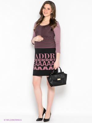 Платье EUROMAMA. Цвет: лиловый, черный