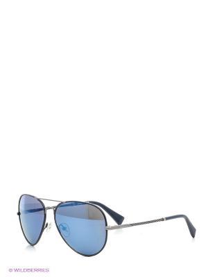 Очки солнцезащитные Baldinini. Цвет: синий, серый