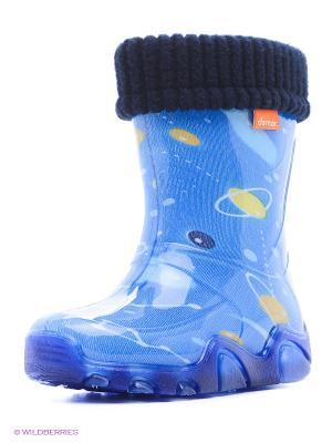 Резиновые сапоги DEMAR. Цвет: синий, голубой