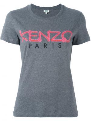 Футболка  Paris Kenzo. Цвет: серый
