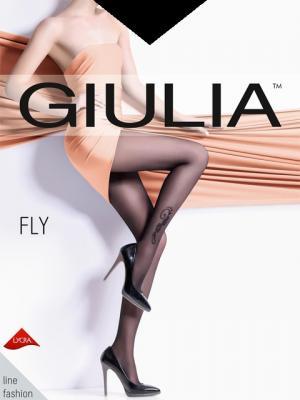 Фантазийные колготки FLY 73, 2 пары (20 ден) Giulia. Цвет: черный