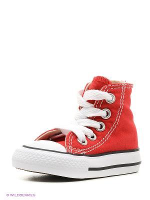 Chuck Taylor All Star Converse. Цвет: красный