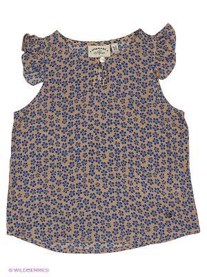 Блузка Finn Flare. Цвет: коричневый