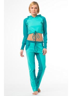 Спортивные брюки SAVASANA. Цвет: светло-зеленый