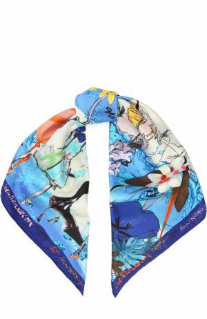 Шелковый платок с принтом Christian Lacroix. Цвет: голубой