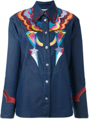 Джинсовая рубашка Tsumori Chisato. Цвет: синий