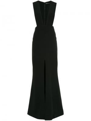 Вечернее платье в стиле фартука David Koma. Цвет: чёрный