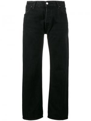 Укороченные прямые брюки с завышенной талией Re/Done. Цвет: чёрный
